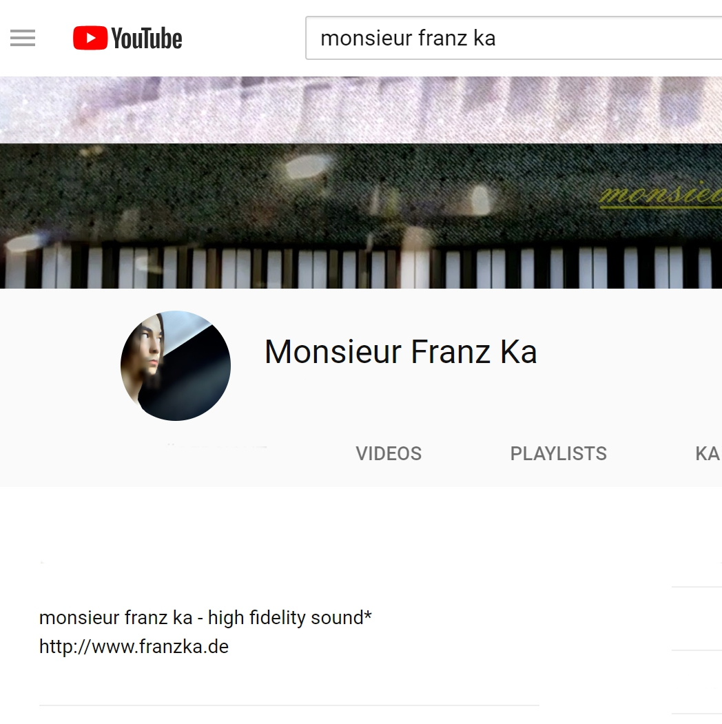 MONSIEUR FRANZ KA aka MFK on Youtube